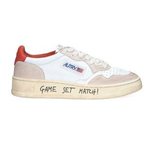 Autry Medalist LL20 Leather White/Pink Women's Sneakers