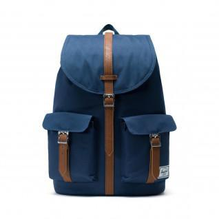 Backpack Herschel dawson navy/tan synthetic leath