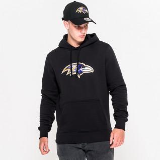 New Era Hoodie with Baltimore Ravens Team Logo