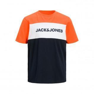T-shirt child Jack & Jones neon logo blocking