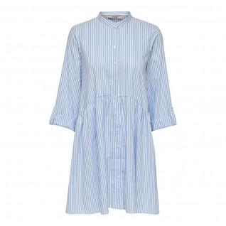 Only Ditte life stripe shirt dress 3/4 sleeves
