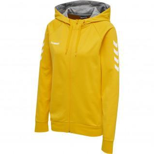 Sweatshirt woman zip hoodie Hummel hmlgo cotton