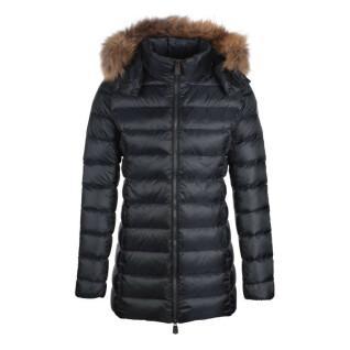 Women's hooded jacket Jott Perle Mi-long Basic