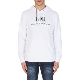 Hoodie Armani exchange 6KZMFM-ZJ6HZ-1100 blanc