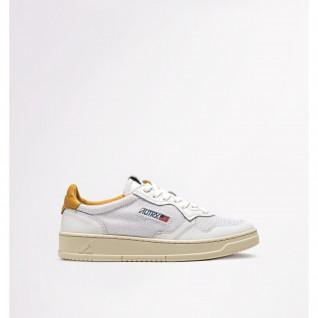 Women's shoes Autry 01 Low Leather/Kevlar White/Gold