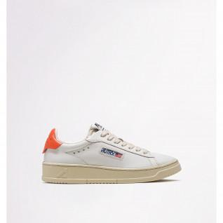 Autry Dallas Low Leather/Leather White/Coral Women's Shoes