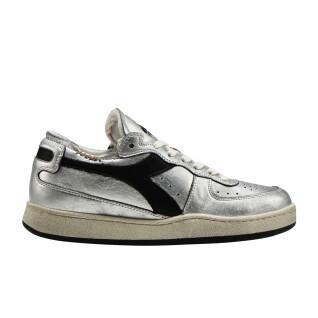 Women's sneakers Diadora row cut silver used