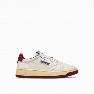 Autry Medalist BB37 Bicolor Leather White/Burgundy Sneakers