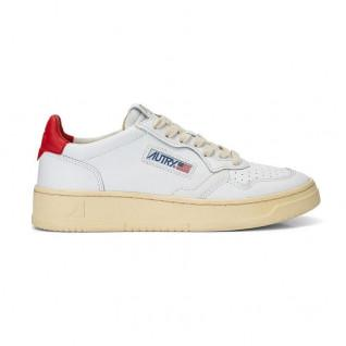 Autry Medalist LL21 Leather White/Red Women's Sneakers
