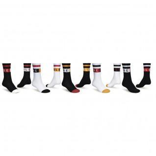 Set of 5 socks Globe Block Wrap