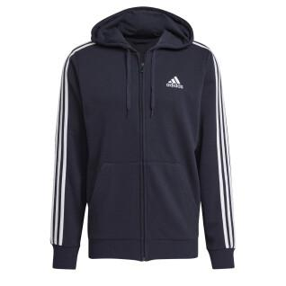 Hooded jacket adidas Essentials French Terry 3-Bandes Full-Zip