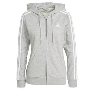 adidas Essentials French Terry 3-Stripes Women's Zip Up Hoodie