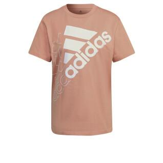 Women's T-shirt adidas Brand Love Slanted Logo Boyfriend
