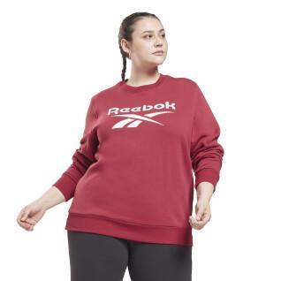 Women's identity logo fleece round neck sweatshirt (large sizes)