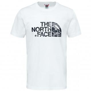 "Classic The North Face ""Never Stop Exploring"" T-shirt."