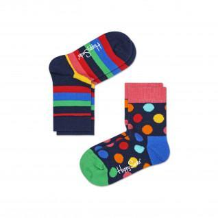 Happy Socks 2-pack Stripe