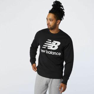 Sweatshirt New Balance essentials stacked logo crew