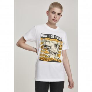 T-shirt woman Mister Tee camel