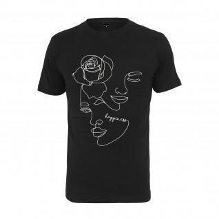 Women's T-shirt Mister Tee one line rose