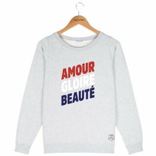 Sweatshirt round neck woman French Disorder Amour gloire beauté