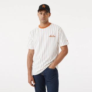 New era oversized pinstripe t-shirt