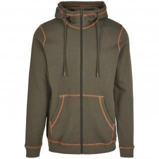 Zip-up sweatshirt Urban Classics organic contrast flatlock