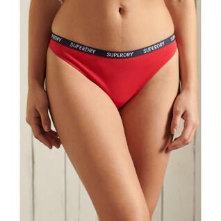 Set of 2 organic cotton thongs for women Superdry Harper