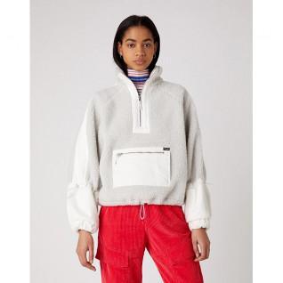 Sweatshirt woman Wrangler Denim Sherpa Pop Over